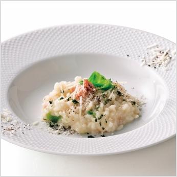 オーシャンテール北海道海鮮リゾットと野菜スープ